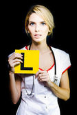 Novice nurse or medical student — Stock Photo