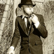 Stock Photo: Pastime Pipe Smoker