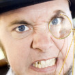 Mean Monocle Man - Stock Photo