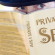 Stock Photo: Spying Private Eye