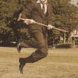 Vintage Happy Dance — Stockfoto