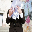 Foto Stock: Paperwork Tears