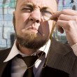 Vision Impared Monocle Man — Stock Photo