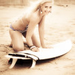 Stock Photo: Smiling Retro Surfer