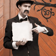 Stock Photo: Olden Day Messenger Man