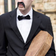Stock Photo: Funeral Director With Coffin