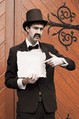 Olden Day Messenger Man — Stock Photo