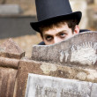 Tomb Stone Peek Boo — Stock Photo #10588155
