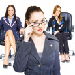 Women achievers in corporate business - Stock Photo