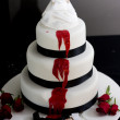 Killer Bride Wedding Cake - Stock Photo