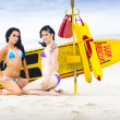 Stock Photo: Sexy Lifesaver Beach Patrol