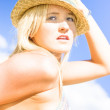 Beach Girl - Stock Photo