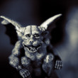Evil Gargoyle Statue - Stock Photo