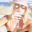 Sexy Woman With Cocktail — Stock Photo