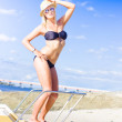Beach Babe On Cruise Boat — 图库照片