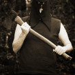 Executioner With Axe — Stock Photo