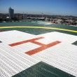 Building Top Helipad - Stock Photo