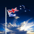 Stock Photo: AustraliFlag