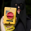Stock Photo: Life And Death Kill Switch Executioner