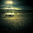 Dark Outback Landscape - Photo