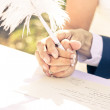 Tender Pledge Of Commitment - Stock Photo