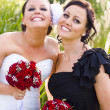 Bride With Maid-Of-Honor - Stok fotoğraf
