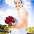 Bridal Giggles - Stock Photo