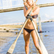 Stock Photo: Rowing Goddess