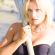 Stock Photo: Alluring Blonde Rower