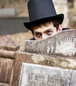 Tomb Stone Peek A Boo — Stock Photo
