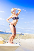 Beach Babe On Cruise Boat — Stock Photo