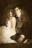 Faded Vintage Wedding Photograph — Stock Photo