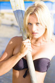 Alluring Blonde Rower — Stock Photo