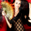 Hot Female Fire Dancer — Stockfoto
