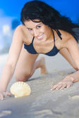 Cute Sand Woman — Stock Photo