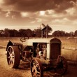 Tractor From Yesteryear - Stock Photo