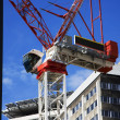 Big Red Crane - Stock Photo