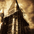 Vintage Church Column Construction - Foto Stock