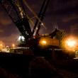Night Crane - Stock Photo