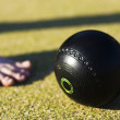 Foto Stock: Bowls Foot Forward