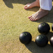 Stock Photo: Barefoot Bowling