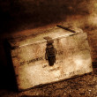 Wooden Small Arms Cartridge Box - Stock Photo