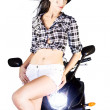 Sexy Biker Girl — Stock Photo