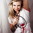 Psychotic Killer Nurse — Stock Photo