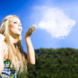 Royalty-Free Stock Photo: Cloud Creation With A Puff Of Magic