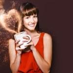 I Love Hot Coffee — Stock Photo