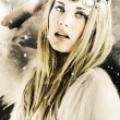 Enchanting Snow Princess - Stock Photo