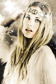 Enchanting Snow Princess — Stock Photo