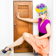 Stock Photo: Fashion Police Blocking Doorway