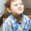 Mischievous Young Boy — Stock Photo